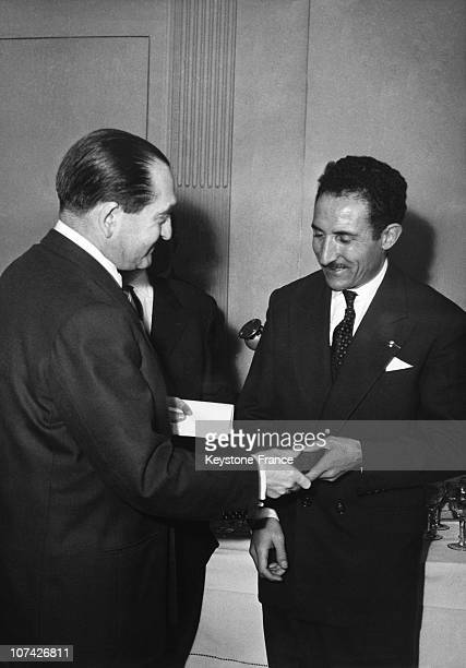 Mimoun Received By Mendes France At Paris In France On January 5Th 1956