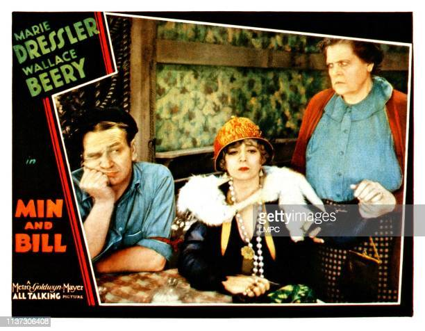 Min And Bill lobbycard from left Wallace Beery Marjorie Rambeau Marie Dressler 1930