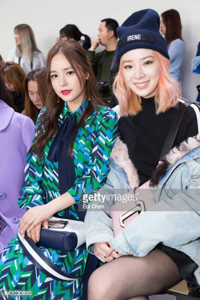 Min Hyo-Rin and Irene Kim attend the Michael Kors Collection Fall 2017 runway show at Spring Studios during New York Fashion Week on February 15,...
