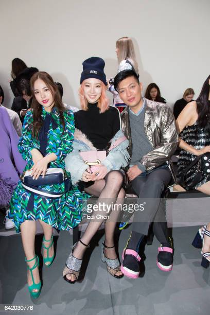 Min Hyo-Rin, Irene Kim and Bryanboy attend the Michael Kors Collection Fall 2017 runway show at Spring Studios during New York Fashion Week on...