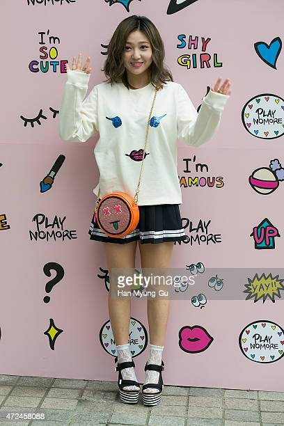 Min of girl group Miss A attends the photocall for 'PlayNoMore' PopUp Store at the Beaker on May 7 2015 in Seoul South Korea