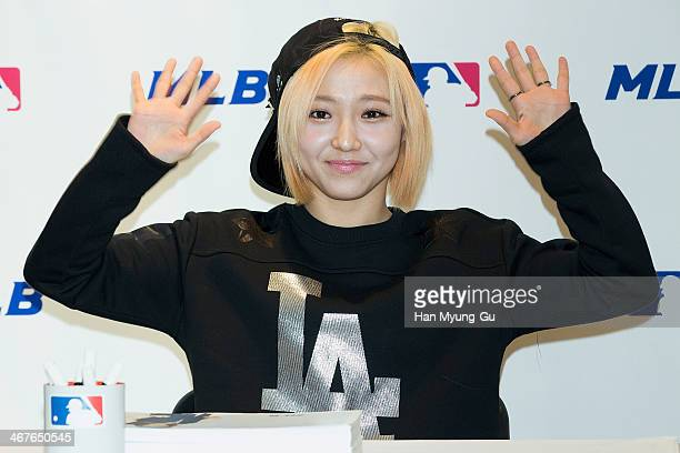 Min of South Korean girl group Miss A attends Miss A Autograph Session For MLB on February 7 2014 in Seoul South Korea