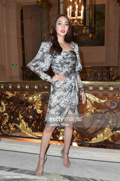 Min Pechaya attends the Giambattista Valli aute Couture Fall/Winter 2019 2020 show as part of Paris Fashion Week on July 01 2019 in Paris France
