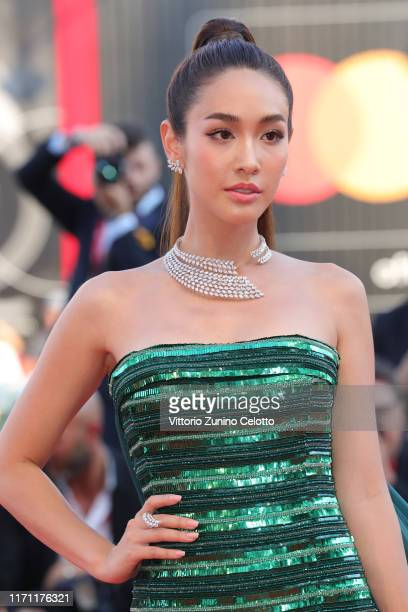 Min Pechaya Wattanamontri walks the red carpet ahead of the J'Accuse screening during the 76th Venice Film Festival at Sala Grande on August 30 2019...