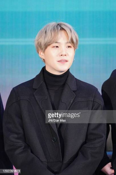 SUGA Min Yoongi of the Kpop band BTS is seen on February 21 2020 in New York City