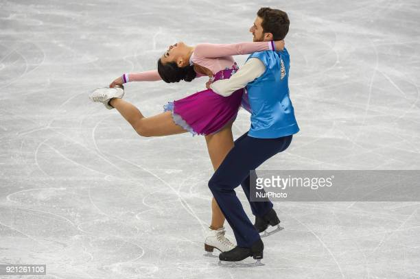 Min Yura and Gamelin Alexander of South Korea competing in free dance at Gangneung Ice Arena Gangneung South Korea on February 20 2018