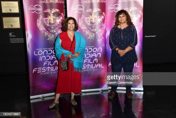 """Mina Anwar attends """"WOMB """" Screening and Opening Gala during London Indian Film Festival 2021 at BFI Southbank on June 17, 2021 in London, England."""