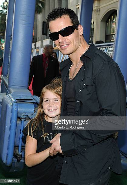 Mina Bree and Antonio Sabato Jr arrive at the premiere of Walt Disney Pictures' Secretariat at the El Capitan Theatre on September 30 2010 in...