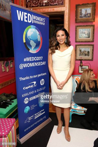Mina Chang attends the 2017 Women's Entrepreneurship Day VIP Honoree Speaker Dinner Reception on November 16 2017 in New York City