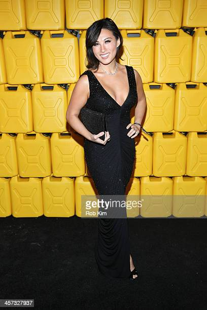 Mina Chang President of Linking the World attends the 8th annual charity ball Gala at the Duggal Greenhouse on December 16 2013 in the Brooklyn...