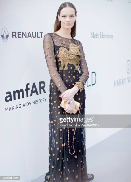 Mina Cvetkovic arrives at the amfAR Gala Cannes 2017 at Hotel du CapEdenRoc on May 25 2017 in Cap d'Antibes France
