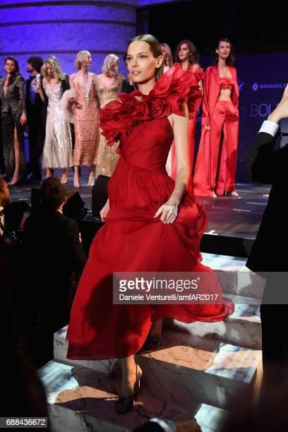 Mina Cvetkovic wearing Giambattista Valli walks the runway at the amfAR Gala Cannes 2017 at Hotel du CapEdenRoc on May 25 2017 in Cap d'Antibes France