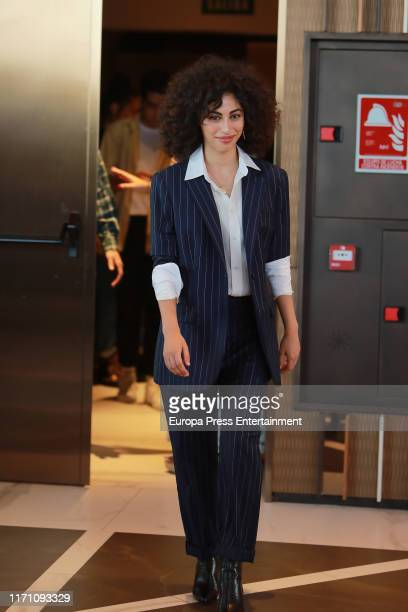 Mina El Hammani attends 'Elite' photocall on August 29 2019 in Madrid Spain
