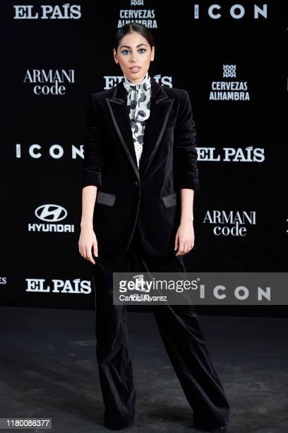 Mina El Hammani attends 'ICON' magazine awards at Real Fabrica de Tapices on October 09 2019 in Madrid Spain