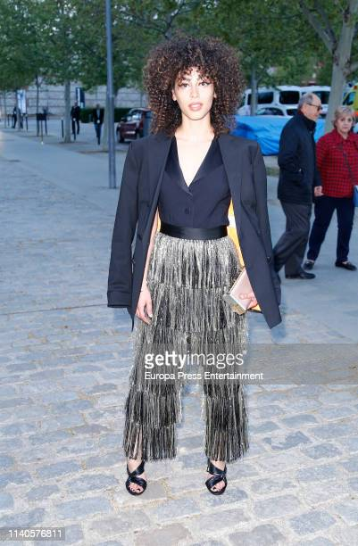 Mina el Hammani attends Netflix opening at 'La ciudad de la tele' on April 04 2019 in Madrid Spain
