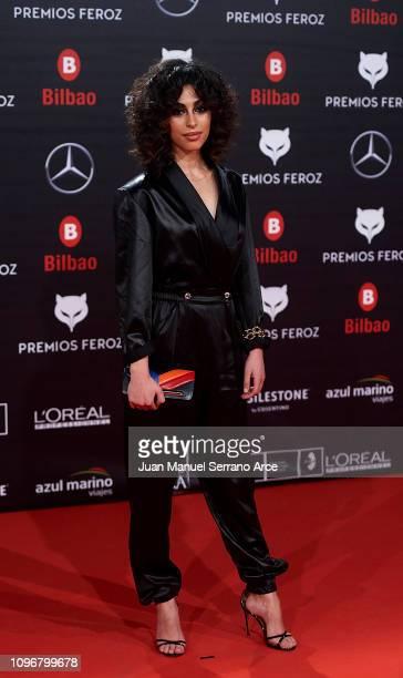 Mina El Hammani on the red carpet during the Feroz Awards 2019 on January 19 2019 in Bilbao Spain