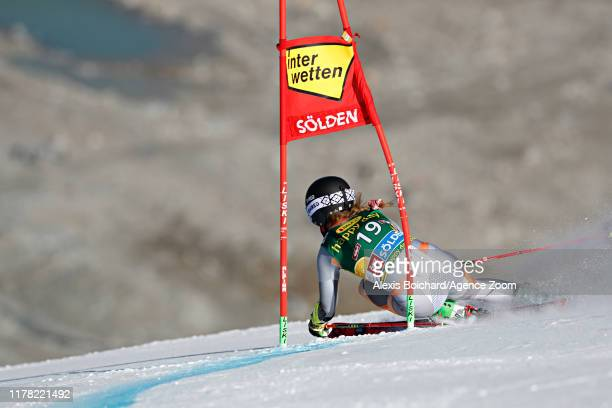 Mina Fuerst Holtmann of Norway in action during the Audi FIS Alpine Ski World Cup Women's Giant Slalom on October 26, 2019 in Soelden, Austria.