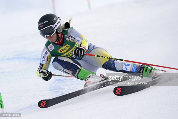 Mina Fuerst Holtmann of Norway in action during the Audi FIS Alpine Ski World Cup Women's Giant Slalom on October 17, 2020 in Soelden, Austria.
