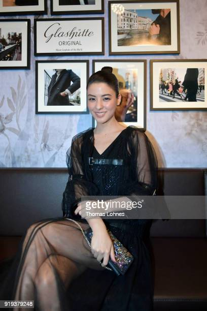 Mina Fujii attends the Glashuette Original Lounge at The 68th Berlinale International Film Festival at Grand Hyatt Hotel on February 17 2018 in...