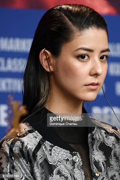 Mina Fujii attends the 'Human, Space, Time and Human' press conference during the 68th Berlinale International Film Festival Berlin at Grand Hyatt...