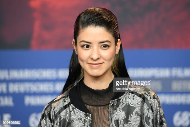 Mina Fujii pose for a photo during a photocall on the film Human Space Time and Human' during the 68th Berlinale International Film Festival at the...