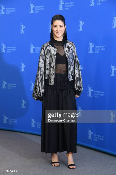 Mina Fujii poses at the 'Human, Space, Time and Human' photo call during the 68th Berlinale International Film Festival Berlin at Grand Hyatt Hotel...