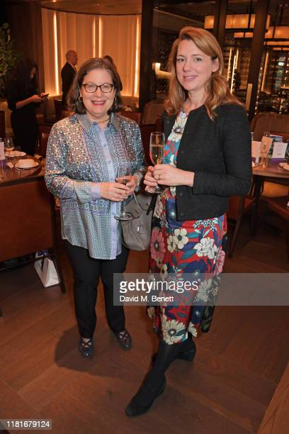 Mina Gerowin and Dr Sarah McClelland attend a lunch hosted by Amanda Staveley for 'Wellbeing Of Women', Britain's foremost female health charity...
