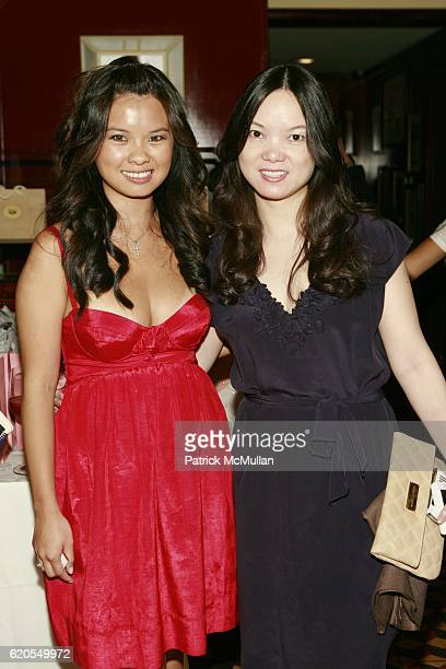 Mina Jacqueline Au and Daisy Lim attend REBECCA TAYLOR Fashion Week Party at Artisinal Restaurant on September 11, 2008 in New York City.