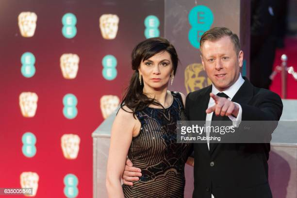 Mina Korzeniowski and Abel Korzeniowski attend the 70th British Academy Film Awards ceremony at the Royal Albert Hall on February 12 2017 in London...