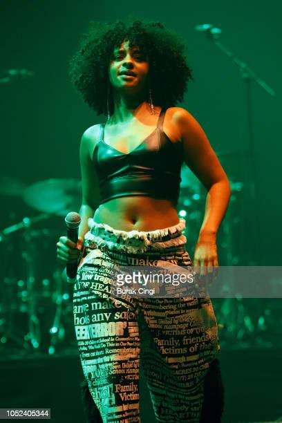 Mina Rose performs live on stage at O2 Academy Brixton on October 17 2018 in London England