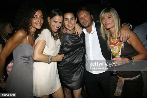 Mina Saquet Karine Jones Charlotte Sarkozy Yan Saquet and Isabelle Camus attend WEG 80s Party Hosted by YAN SAQUET MUSIC DESIGN at 409 W 13th St on...