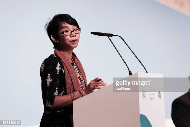 Mina Setra Deputy Secretary General Indigenous Peoples Allience at the COP23 Fiji conference in Bonn Germany on the 10th of November 2017 COP23 if...