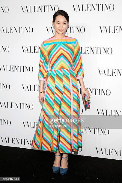 Mina Shin attends the Valentino Sala Bianca 945 Event on December 10 2014 in New York City