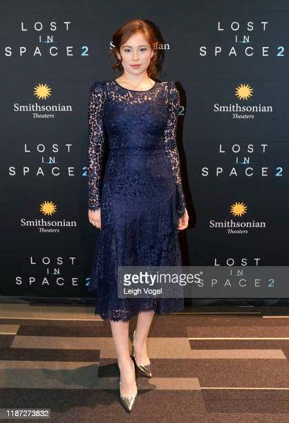 Mina Sundwall arrives at A Special Screening Of Lost in Space Season 2 hosted by Netflix and Legendary Entertainment In Washington DC at Smithsonian...