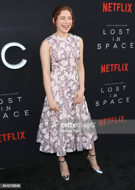 Mina Sundwall arrives to the Los Angeles premiere of Netflix's 'Lost In Space' Season 1 held at The Cinerama Dome on April 9 2018 in Los Angeles...