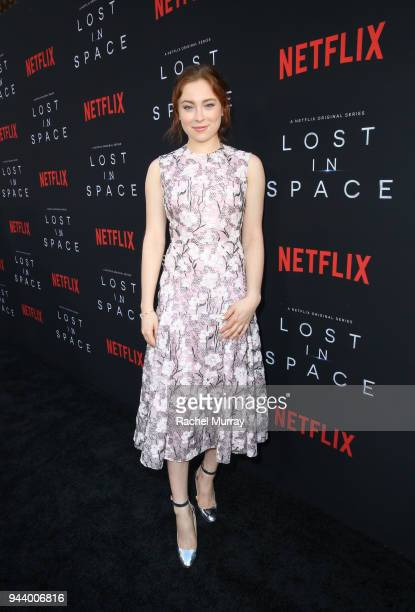 Mina Sundwall attends Netflix's 'Lost In Space' Los Angeles premiere on April 9 2018 in Los Angeles California