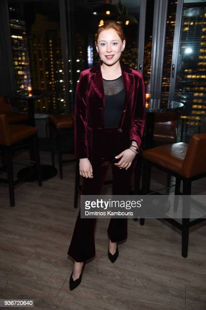 Mina Sundwall attends the after party for the screening of 'Midnight Sun' at The Skylark on March 22 2018 in New York City