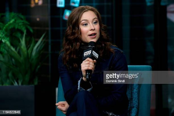Mina Sundwall attends the Build Series to discuss 'Lost In Space' at Build Studio on December 17, 2019 in New York City.