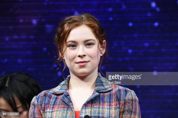 Mina Sundwall attends the 'Lost In Space' premier event at Omotesando Hills on April 3 2018 in Tokyo Japan