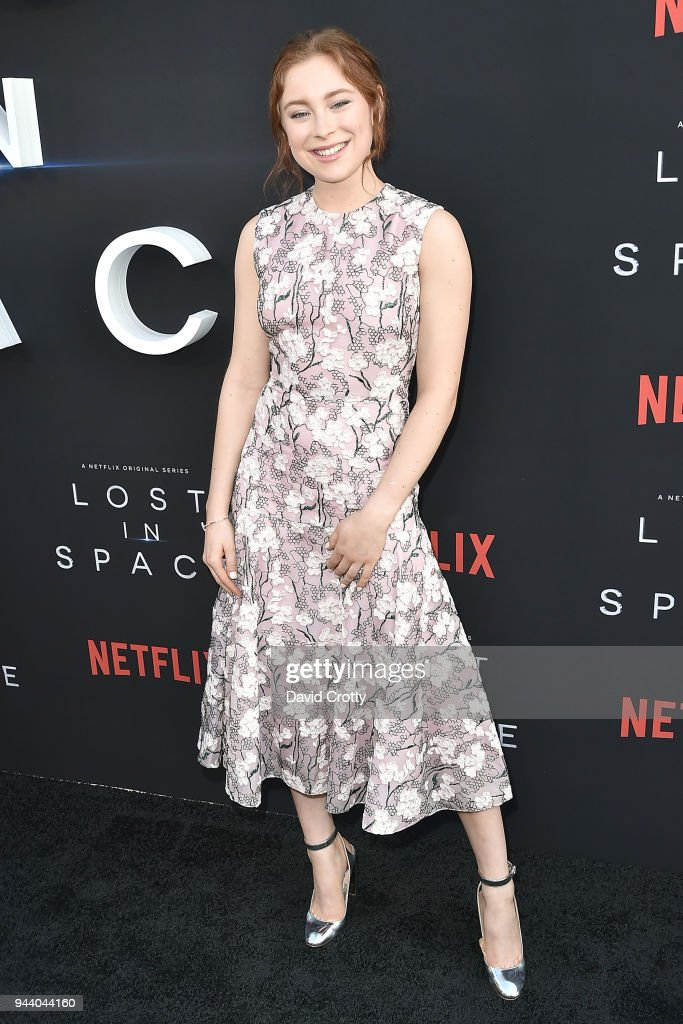 Mina Sundwall attends the 'Lost In Space' Season 1 Premiere at ArcLight Cinerama Dome on April 9, 2018 in Hollywood, California.
