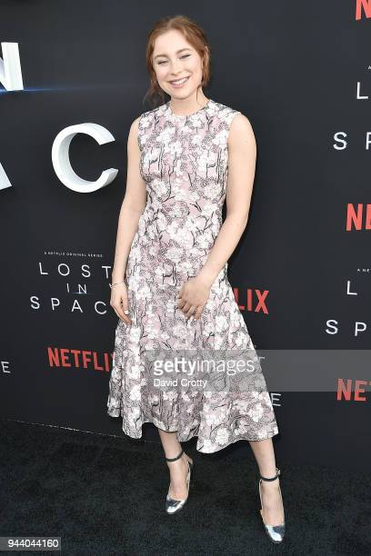 Mina Sundwall attends the 'Lost In Space' Season 1 Premiere at ArcLight Cinerama Dome on April 9 2018 in Hollywood California