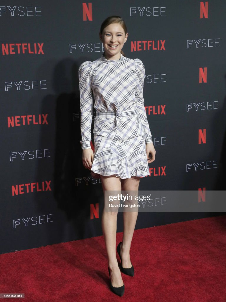 Mina Sundwall attends the Netflix FYSEE Kick-Off at Netflix FYSEE At Raleigh Studios on May 6, 2018 in Los Angeles, California.