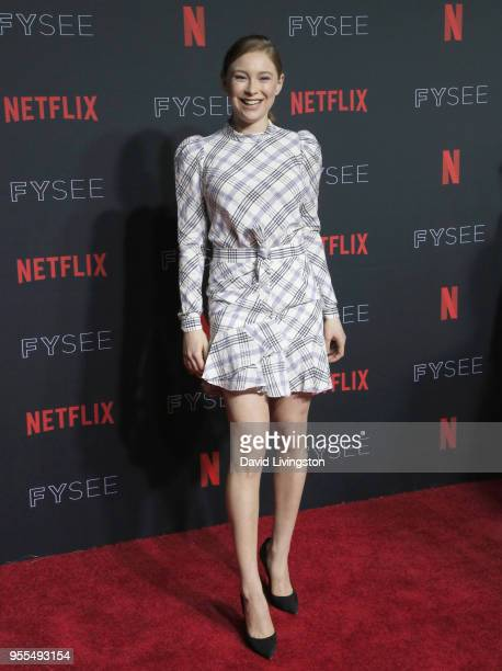 Mina Sundwall attends the Netflix FYSEE KickOff at Netflix FYSEE At Raleigh Studios on May 6 2018 in Los Angeles California