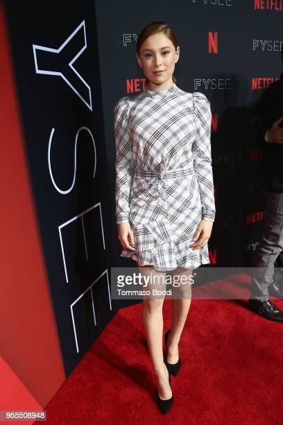 Mina Sundwall attends the Netflix FYSEE KickOff Event at Netflix FYSEE At Raleigh Studios on May 6 2018 in Los Angeles California