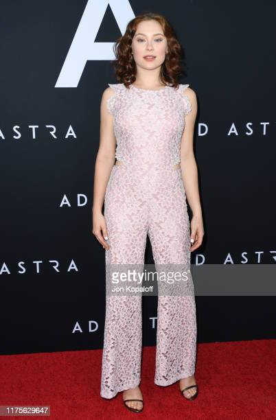 "Mina Sundwall attends the Premiere Of 20th Century Fox's ""Ad Astra"" at The Cinerama Dome on September 18, 2019 in Los Angeles, California."