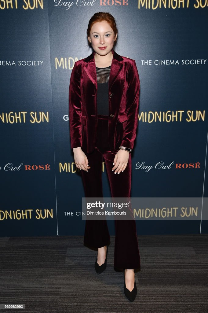Mina Sundwall attends the screening of 'Midnight Sun' at The Landmark at 57 West on March 22, 2018 in New York City.