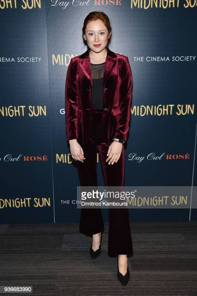 Mina Sundwall attends the screening of 'Midnight Sun' at The Landmark at 57 West on March 22 2018 in New York City