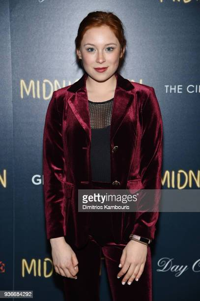 """Mina Sundwall attends the screening of """"Midnight Sun"""" at The Landmark at 57 West on March 22, 2018 in New York City."""