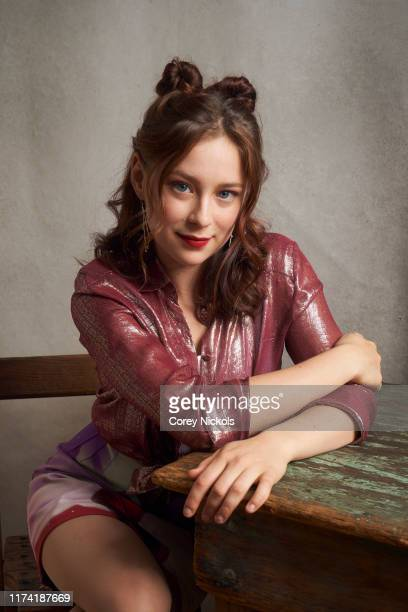 """Mina Sundwall of """"Lost In Space"""" poses for a portrait during 2019 New York Comic Con at Jacob K. Javits Convention Center in New York, NY on October..."""