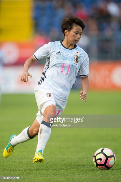 Mina Tanaka of Japan in action during the Women's International Friendly match between Netherlands and Japan at Rat Verlegh Stadion on June 9 2017 in...